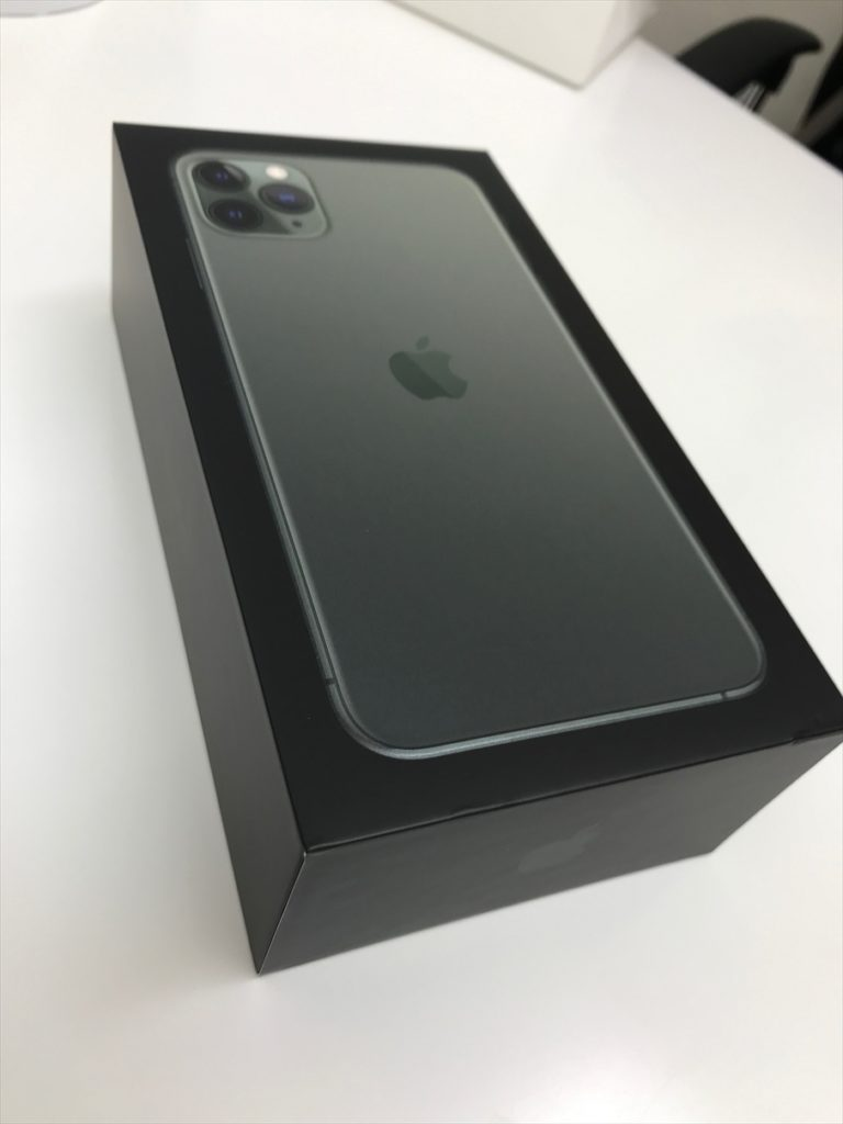 iPhone11Proの箱(黒)
